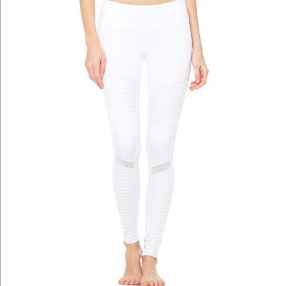 b5897aa56715f ALO Yoga Pants | Moto White Leggings | Poshmark